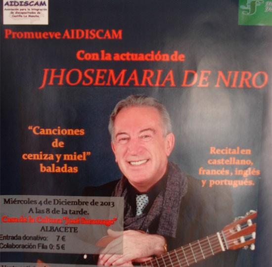 Gala Concierto de JHoseMaría de Niro «Canciones de Ceniza y Miel»